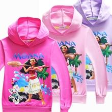 Newest Sale Children Clothing Girls moana Hoodies Sweater Cotton Cartoon Print Boys Clothes kids Tops Sweatshirt