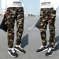 2016 Fall Fashion pants hanging crotch harem pants male jogger patchwork big crotch pants tight mouth Camouflage
