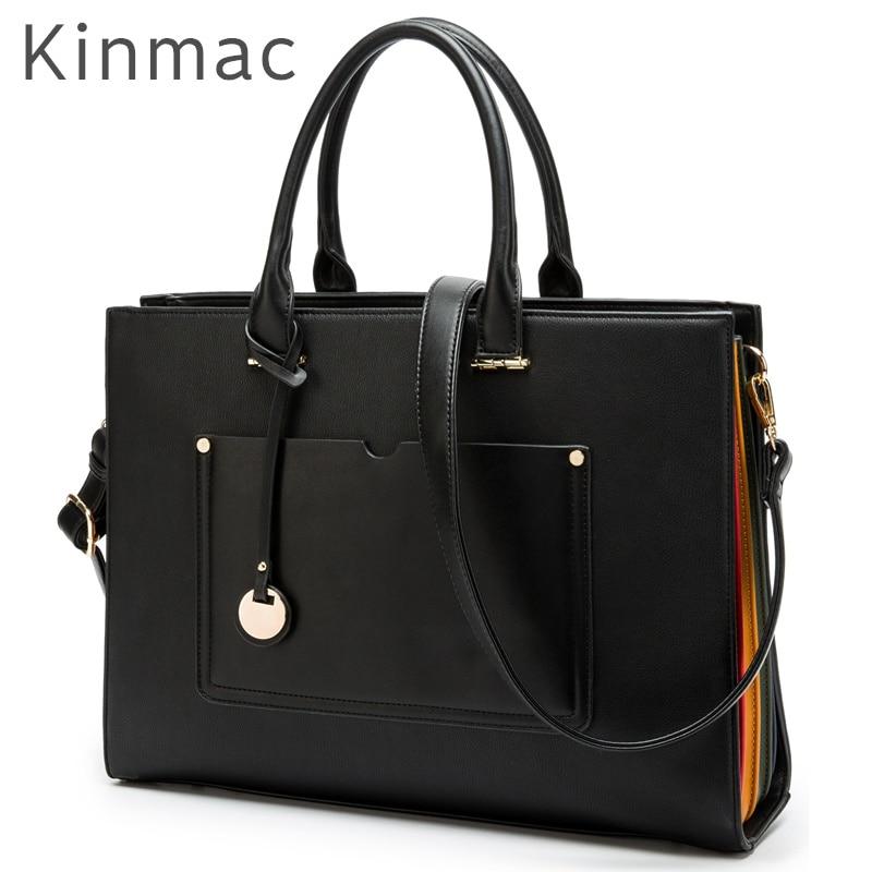 2018 New Brand Kinmac PU Leather Handbag Messenger Bag For Laptop