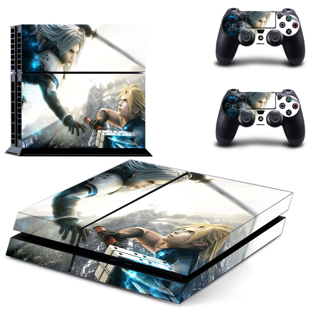 Game Final Fantasy PS4 Skin Sticker Decal Vinyl for Playstation 4 Console and 2 Controllers PS4 Sticker