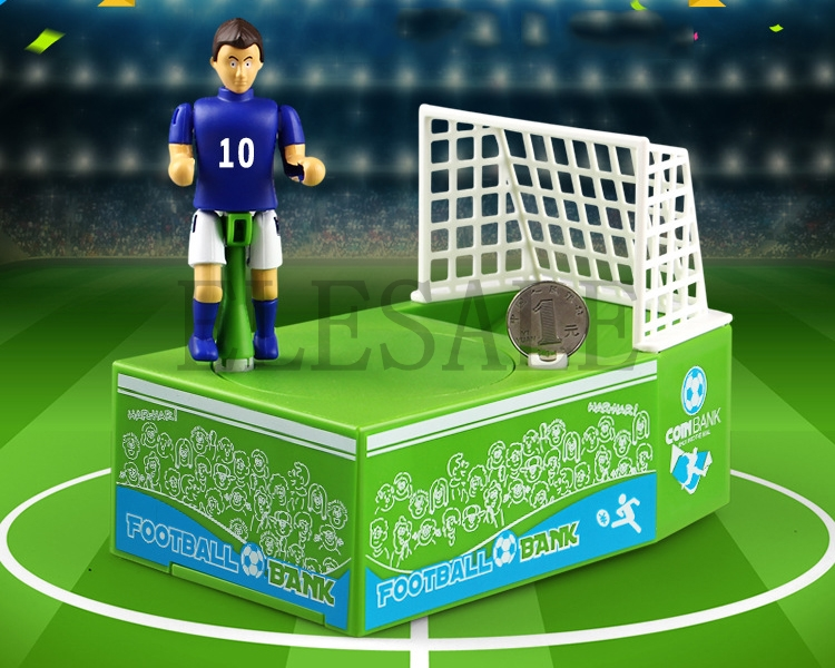 Football Game Brand New Steal Coin Piggy Bank Electronic Plastic Money Safety Box Coin Bank Money Boxes 2018 New novelty gag toys automated cat steal coin bank piggy bank moneybox money saving box digital coin jar alcancia de gato kids gifts