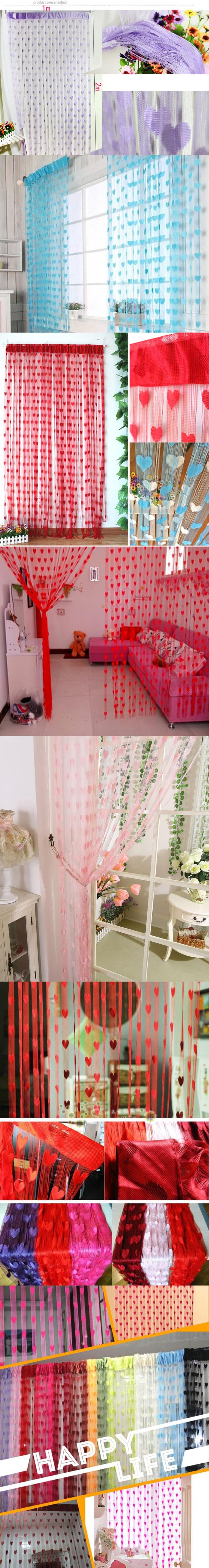 The Screen Cloth Art Is Clever Heart Shape Tassel Drape Room Window