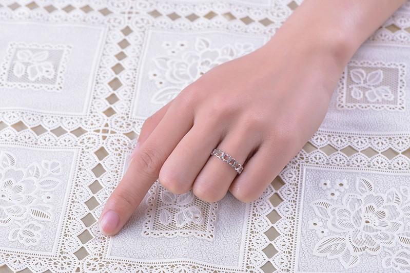wedding engagement rings sterling silver NR55400B (5)
