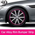 8 meters Car Alloy Wheel Rim Bumper Strip for Renault Fluence Clio Twizy Twingo Wind Latitude Laguna Symbol Thalia Kangoo