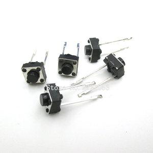 Image 1 - 100 יח\חבילה לחצן מגע מתג 2 סיכות 6*6*5mm מפתח מתגי 6x6x5mm מיקרו מתג