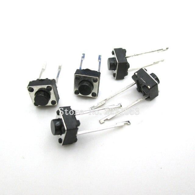 100 יח\חבילה לחצן מגע מתג 2 סיכות 6*6*5mm מפתח מתגי 6x6x5mm מיקרו מתג