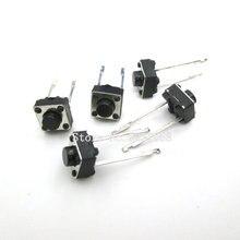 100 sztuk/partia dotykowy przełącznik wciskany 2 pins 6*6*5mm kluczowe przełączniki 6x6x5mm mikroprzełącznik