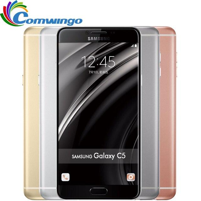 Original Unlocked Samsung Galaxy C5 Mobile Phone 5.2 '' Octa-Core 4GB RAM 32GB/64GB ROM LTE 16MP Android 2600mAh Dual SIM Phone