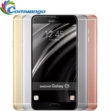Samsung galaxy c5 мобильный телефон 5.2 дюймов octa-core 4 ГБ ram 32 ГБ/64 ГБ rom lte 16mp android 2600 мАч dual sim телефон
