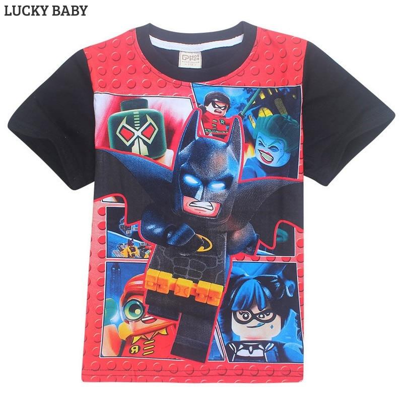 Summer NINJAGO Print t-shirt Girls Casual Cotton O-neck Tee Tops Kids t shirt Clothing Boys Cotton tshirts 4-10y