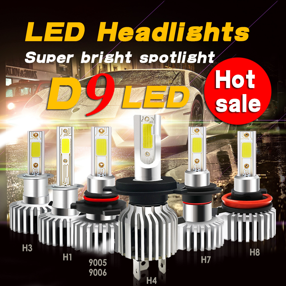 D9 COB 120W Super Bright Ampoule H1 H7 <font><b>Led</b></font> Car Headlight Bulbs H7 6500K H8 H9 H11 9005/hb3 9006/hb4 9012 <font><b>H4</b></font> Turbo <font><b>Led</b></font> H1 <font><b>Canbus</b></font> image