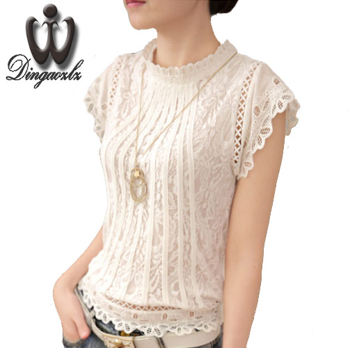 Women's Clothing Summer Women Blouses Casual Lace Crochet Blouse Slim Sleeveless Blusas Feminina Tops Shirts Plus Size Moderate Price