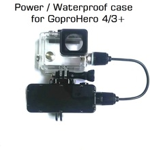 Bateria portátil para gopro hero 8/7/6/5/4/3, bateria de 5200mah, à prova d água estojo de carregamento impermeável para gopro, caixa para gopro