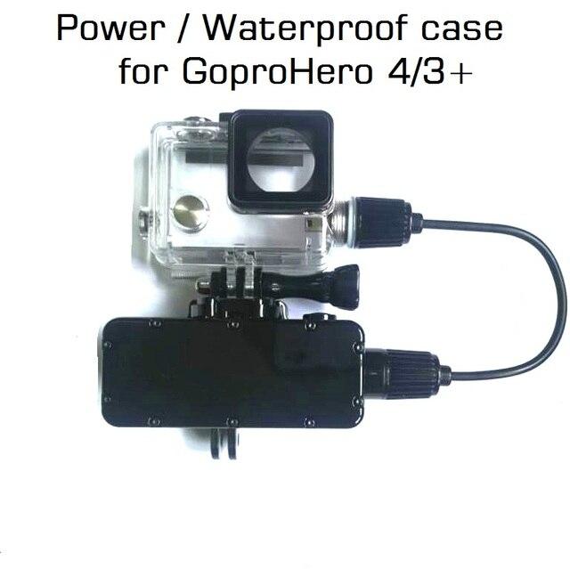Внешний аккумулятор для GoPro Hero 8/7/6/5/4/3, экшн камера, 5200 мАч, водонепроницаемый аккумулятор, зарядное устройство, водонепроницаемый чехол, Gopro, чехол для зарядки/коробка
