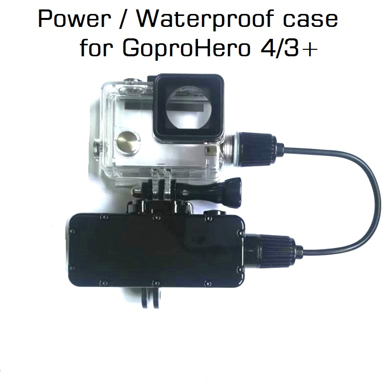 New For GoPro Hero 4 3+ Action Camera 5200mAh Waterproof Power Bank Battery Charger Waterproof case Gopro 4 Charging Shell / Box-in Sports Camcorder Cases from Consumer Electronics