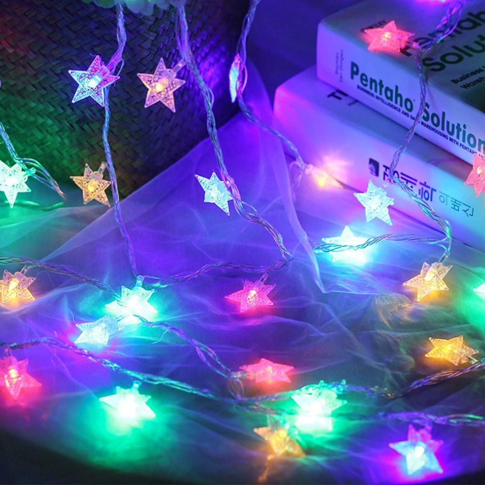 10M 100leds 110V / 220V Star LED String Lights for Xmas Garland Party - Ferie belysning - Foto 2