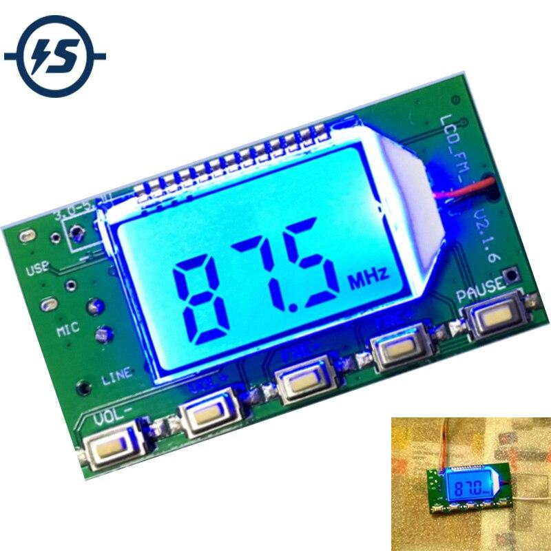 Module émetteur FM DSP PLL 87-108MHz carte de Microphone numérique sans fil stéréo Modulation de fréquence multifonction