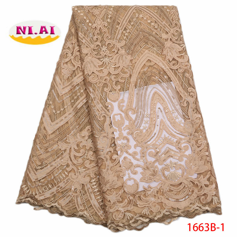 2018 Latest Nigerian Chiffon Lace Fabrics High Quality African Laces Fabric Wedding French Tulle Lace With