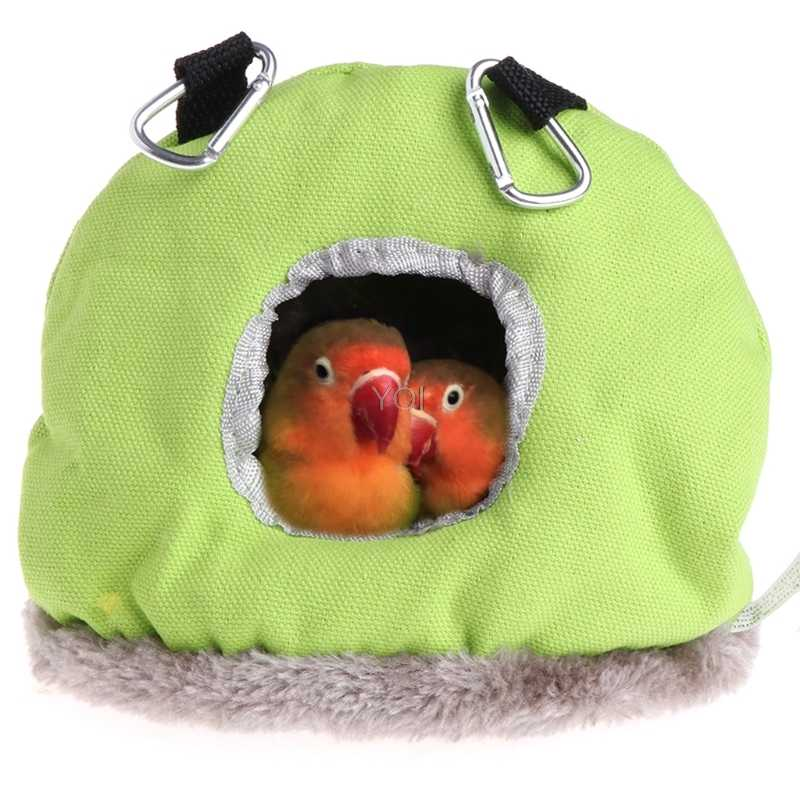 Pet Parrot Nest Plush Warm Winter Hammock Bird Hanging Swing Bed Cave 3 Size Bird Cages Nests