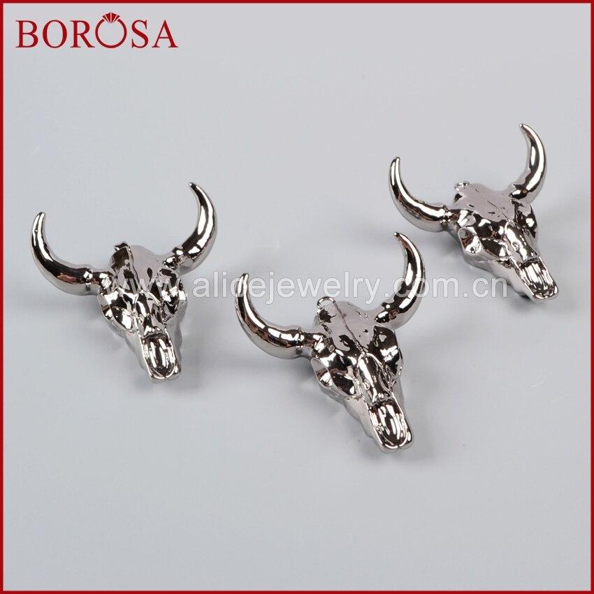 ᗖBorosa Longhorn resina de cuerno de ganado colgantes, Bull ganado ...