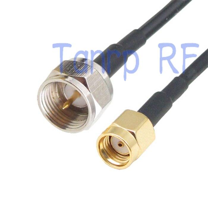 6in F stecker auf RP-SMA stecker hf-anschluss-adapter 15 CM Zopf koaxial überbrückungskabel RG174 verlängerungskabel