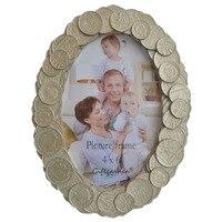 Giftgarden 4x6 Oval Resim Çerçevesi Paralar Mükemmel Aksesuar Antik Yapıt Kenar Tasarım Fotoğraf Çerçeveleri Çerçeve Ev Dekor