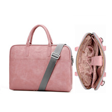 Brand Bag for MacBook air 13 pro 15.4 Leather bag for Lenovo Women Shoulder Laptop bag 13.3 14 15 15.6 17.3 inch Men waterproof