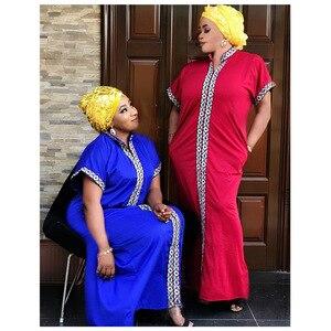 Image 3 - Африканские платья для женщин, традиционное Африканское длинное платье Bazin, африканская одежда с вышивкой, Дашики, платье для женщин