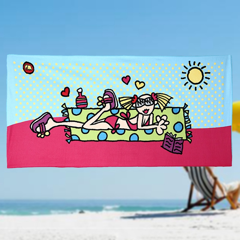 Large Printed 100/% Cotton Beach Towel Gym Holiday Travel Camping Towels Sports
