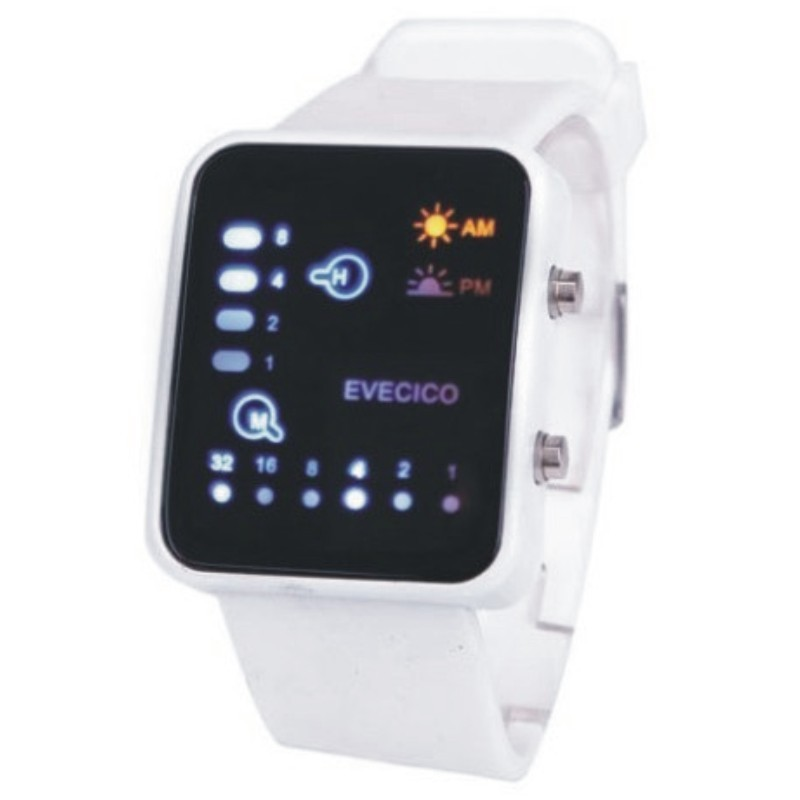 Evecicoled table fashion sports waterproof electronic watch square unisex digital trend watch