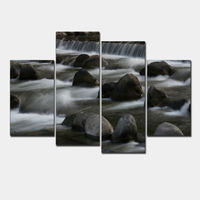 Waterfall Scape Living Rooms Set Wall Painting Print On Canvas For Home Decor Ideas Paints Handmade