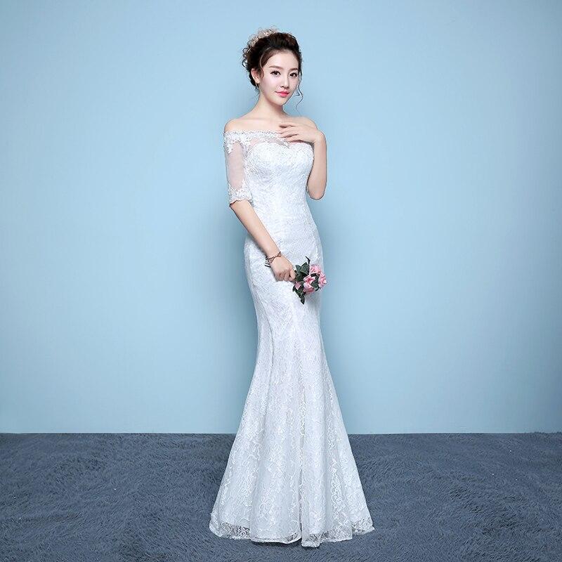 dongcmy ld2010 vestido de novia largo color blanco vestido de novia