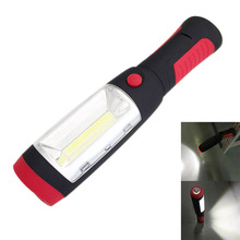 Super Bright COB LEDs Flashlight Worklight Torch Work Stand Light Magnetic Tent Lam + HOOK Outdoor E2shopping