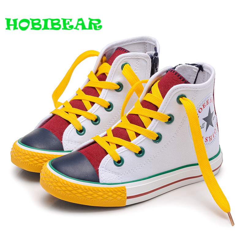 New Cool Unisex Kids Canvas Sneakers Casual Shoes Boys And Girls High Top Flat Children Canvas Shoes Non-Slip Toddler ShoesNew Cool Unisex Kids Canvas Sneakers Casual Shoes Boys And Girls High Top Flat Children Canvas Shoes Non-Slip Toddler Shoes