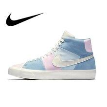 timeless design b433d 9ecbf Original Authentic Nike Blazer Royal Easter QS Men's Skateboarding Shoes  Sport Sneakers Athletic Designer Footwear 2018