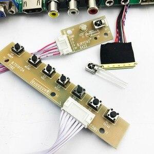 Image 3 - V56 Универсальный ЖК ТВ контроллер драйвер платы PC/VGA/HDMI/USB интерфейс с 40P lvds кабель 1ch 6 бит клавиатуры 561416