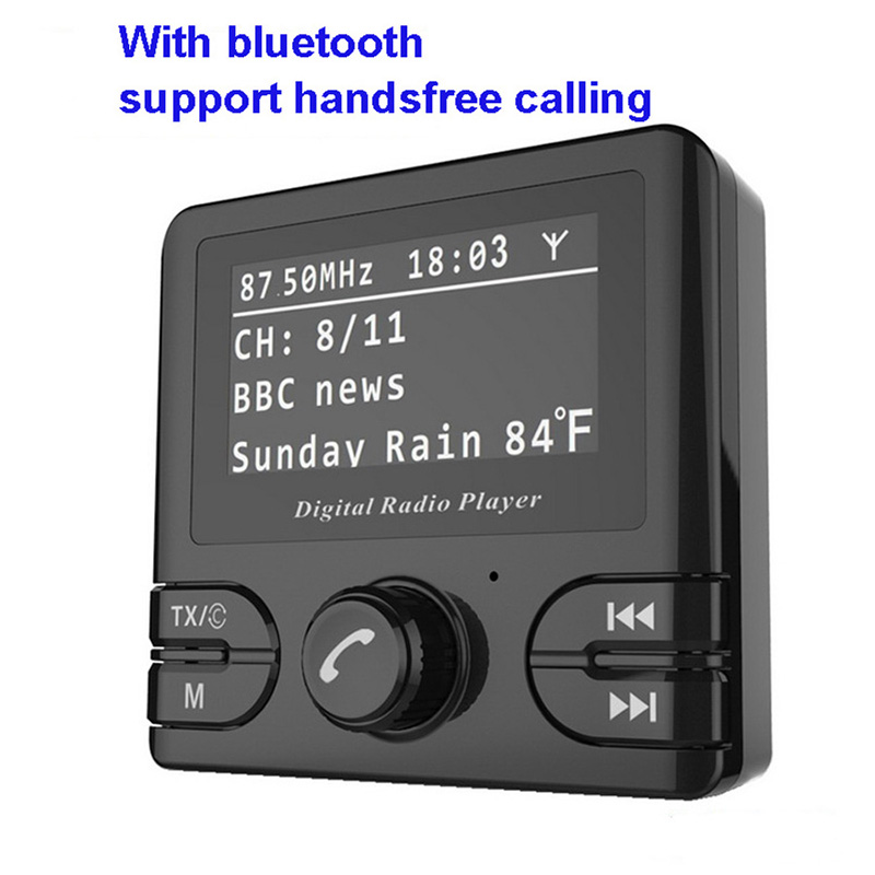 Auto Parts Car Radio Radio Receiver FM Transmitter Bluetooth Handsfree In Car DAB Radio Tuner with Antenna Support TF Card fdomain car dab plus digital radio receiver adapter fm transmitter with bluetooth handsfree