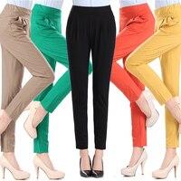 Autumn 2017 Vintage Slim Women Pants Sexy Casual Pants Feet Bodycon Skinny harem Leggings Ladies Elastic Waist Trousers