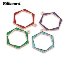 Enamel Charms for DIY Jewelry Making Zinc Alloy Metal Cute Hexagon Charms Wholesale Lots Bulk 10pcs/bag charms for jewelry making floating charms enamel charms zinc alloy sun moon