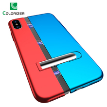 NEW Magnetic Adsorption Phone Case For iPhone XS Max XR X Case Stand Holder Mixed Color Magnetic Cover For iPhone 8 7 6 6s Plus