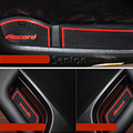 Car-styling Cup Mat Sticker for Honda Accord Accessories 2008 2009 2010 2011 2012 2013 2014 2015 Car Door Gate Slot Pad