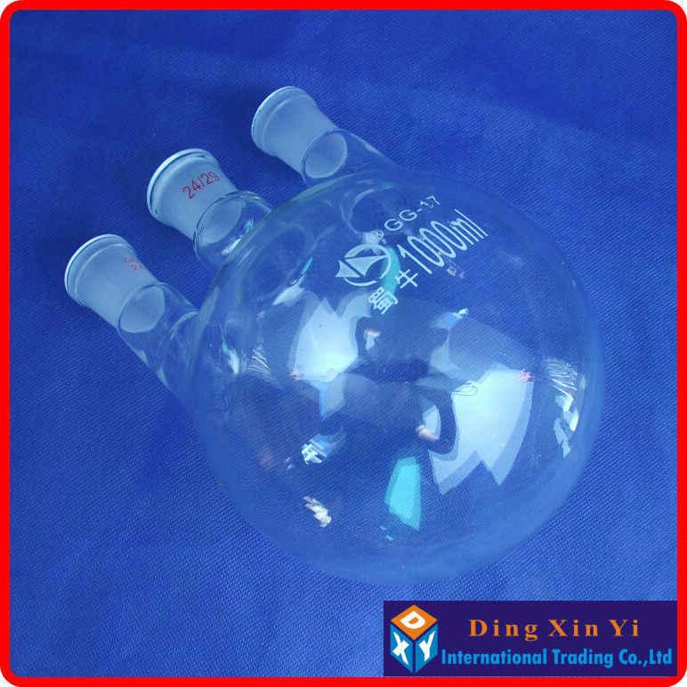 50/100/250/500/1000 ml/2000 ml 24/29 trójszyjna kolba okrągłodenna, kolba okrągłodenna z trzema szyjkami szklana butelka laboratoryjna