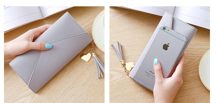кожаный бумажник женщин; коричневый клатч; женщины портмоне; Основной материал:: ПУ;