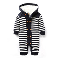 Autumn And Winter Baby Clothes Baby Romper Polar Fleece Newborn Clothing Infant Clothes Vestidos Jumpsuit Newborn