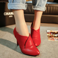 Single shoes female fashion sexy wild high-heeled shoes with pointed lady shoes 2017 spring new Korean women's shoes