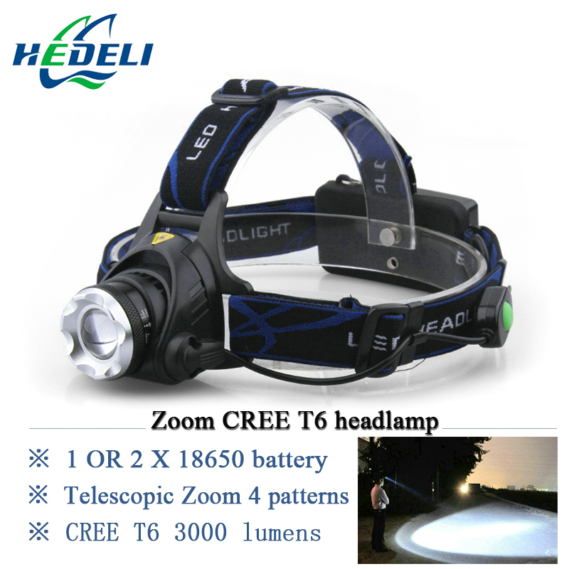 3000 lumens headlight CREE XM L T6 led headlamp lamp linternas frontales head lamp