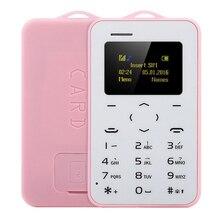 Новый оригинальный ультра тонкий мини aiek/aeku c6 сотовых телефонов студент версия кредитной карты мобильного телефона bluetooth pk aiek m5 карты телефон