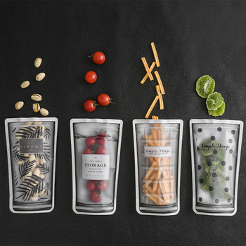 Sachet zip-lock réutilisable portatif de sacs de nourriture pour préserver et cuire le Sandwich Sous Vide joint liquide de Fruit de casse-croûte 11*19 CM
