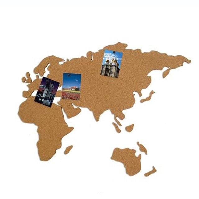 Online shop cork wood phellem wall world map office school home cork wood phellem wall world map office school home decoration map cork board sticker pins board wood map gumiabroncs Choice Image