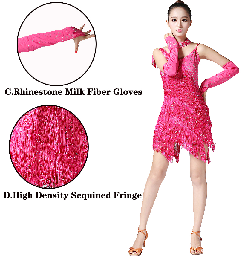 f427f11c8f927 Ladies 1920s Flapper Dress Charleston Great Gatsby Party Vintage Fringes  Latin Dance Dress Salsa Rumba V Neck Sleeveless